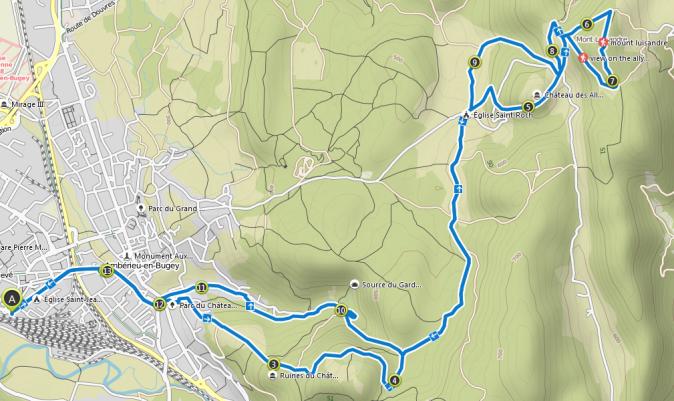 2019-05-13 19_22_10-Le chateau des allymes depuis Ambérieu _ mountain climbing Tour _ Komoot